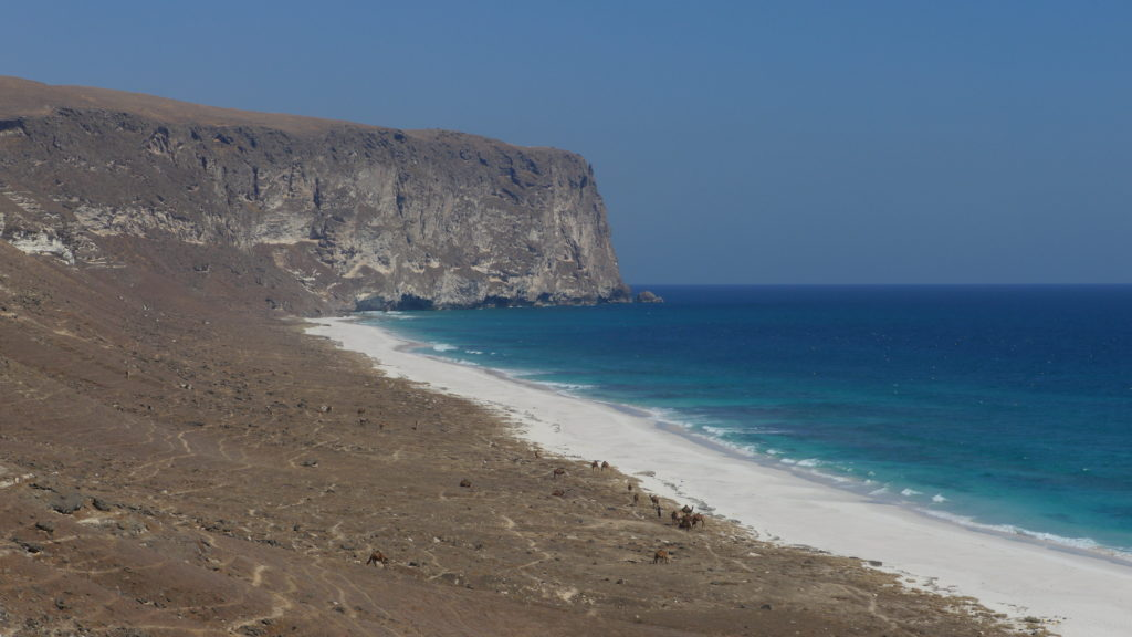 Little known Aftalqut beach makes a highlight of Salalah West Coast tour. Beach is deserted most of the time.