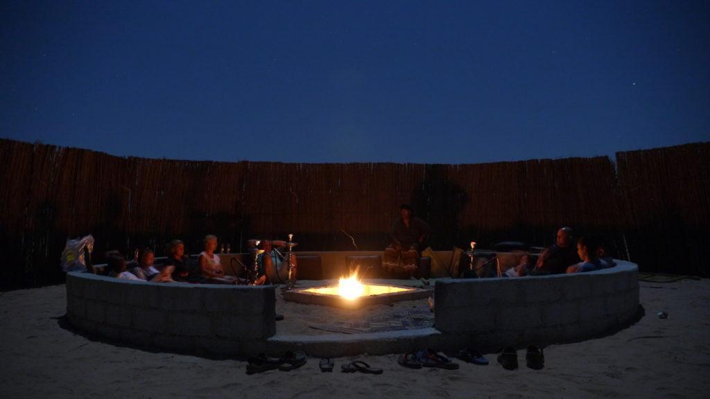 Bonfire under the Arabian skies, Empty Quarter, desert overnight trip from Salalah to Rub al-Khali.