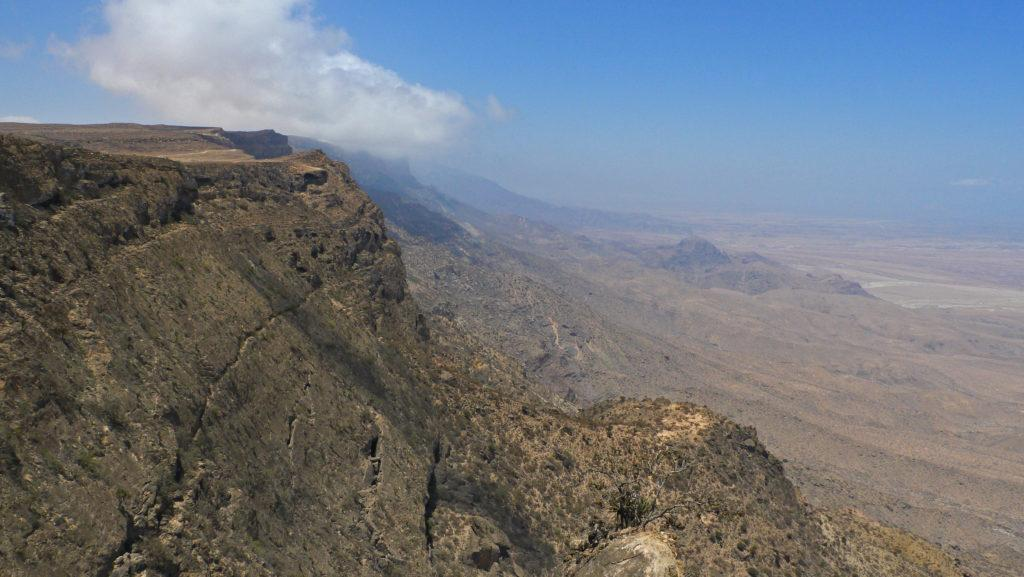 View from the slopes of Jebel Samhan above Mirbat, Salalah trip, Mountain Safari.