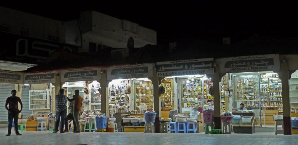 Frankincense and perfumes are sold in old Haffa Market in Salalah
