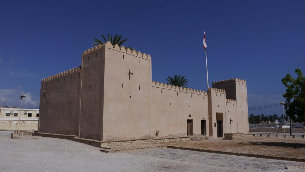Taqah Castle, former residence of local governors - walis. East of Salalah trip.